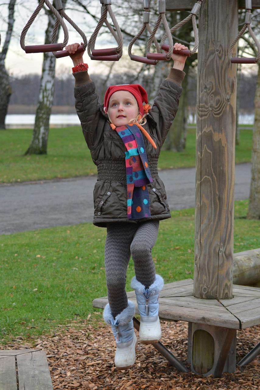 child, climbing, girl